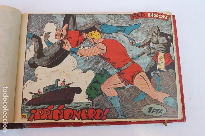 Tebeos: RED DIXON 1ª SERIE COMPLETA 70UNIDADES, ENCUADERNADOS 1954, EDITORIAL MARCO - Foto 10 - 277451483