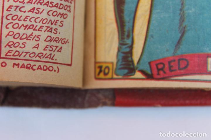 Tebeos: RED DIXON 1ª SERIE COMPLETA 70UNIDADES, ENCUADERNADOS 1954, EDITORIAL MARCO - Foto 11 - 277451483