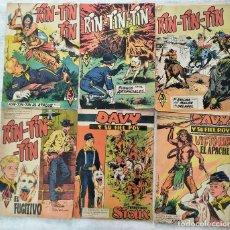 Livros de Banda Desenhada: LOTE 4 TEBEOS RIN-TIN TIN Y 2 TEBEOS DAVY Y SU FIEL ROY - MARCO Y EDICIONES OLIVE Y HONTORIA. Lote 283917833