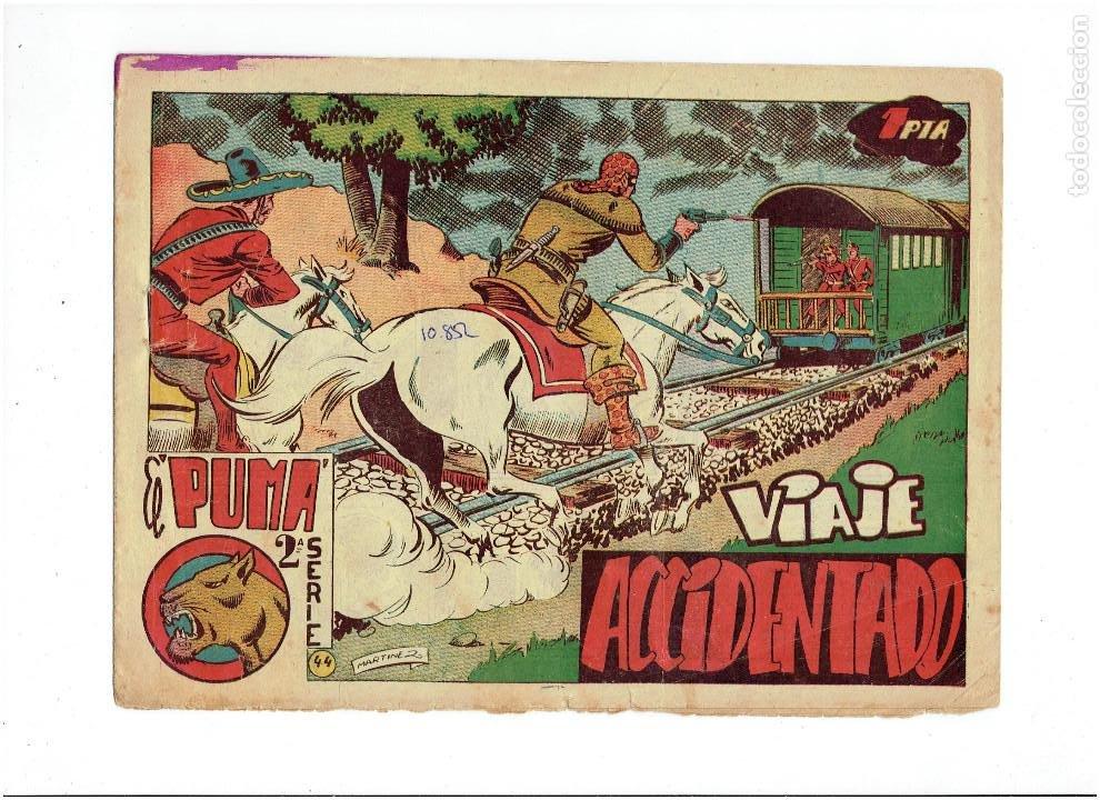 ARCHIVO * EL PUMA * Nº 44 , 2ª SERIE * ORIGINALES * EDITORIAL MARCO 1953 * (Tebeos y Comics - Marco - Otros)