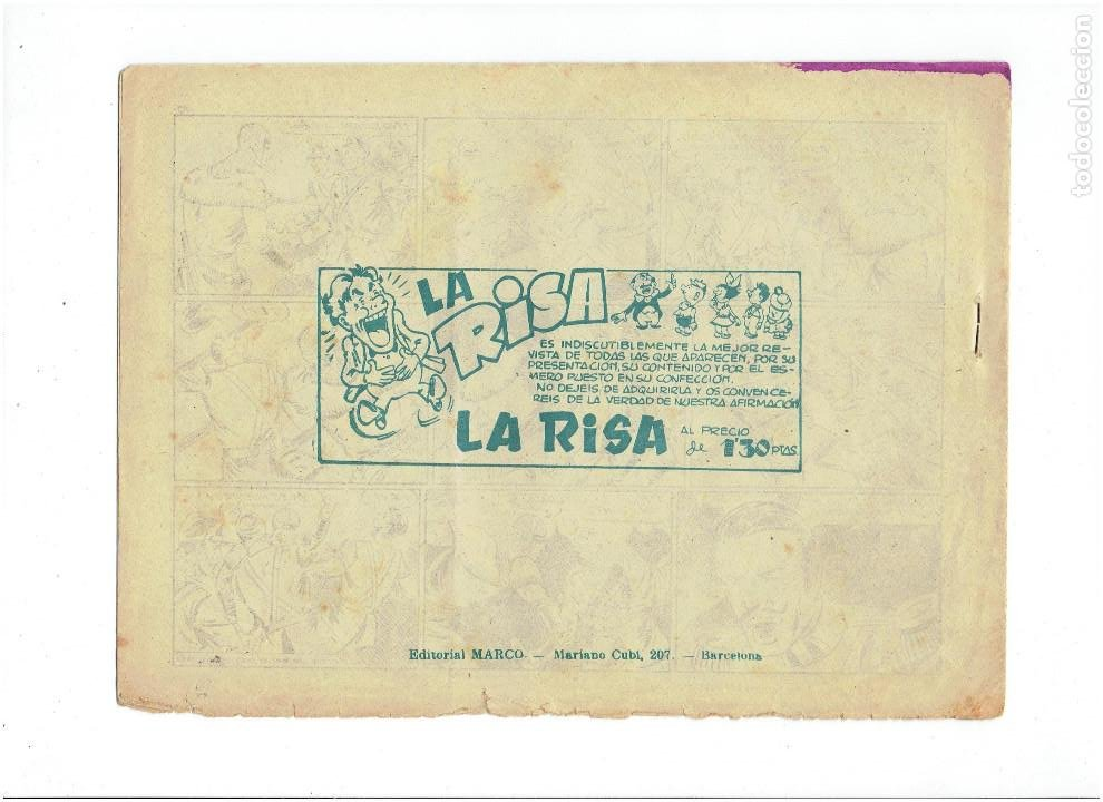 Tebeos: Archivo * EL PUMA * Nº 44 , 2ª SERIE * ORIGINALES * EDITORIAL MARCO 1953 * - Foto 2 - 286716353