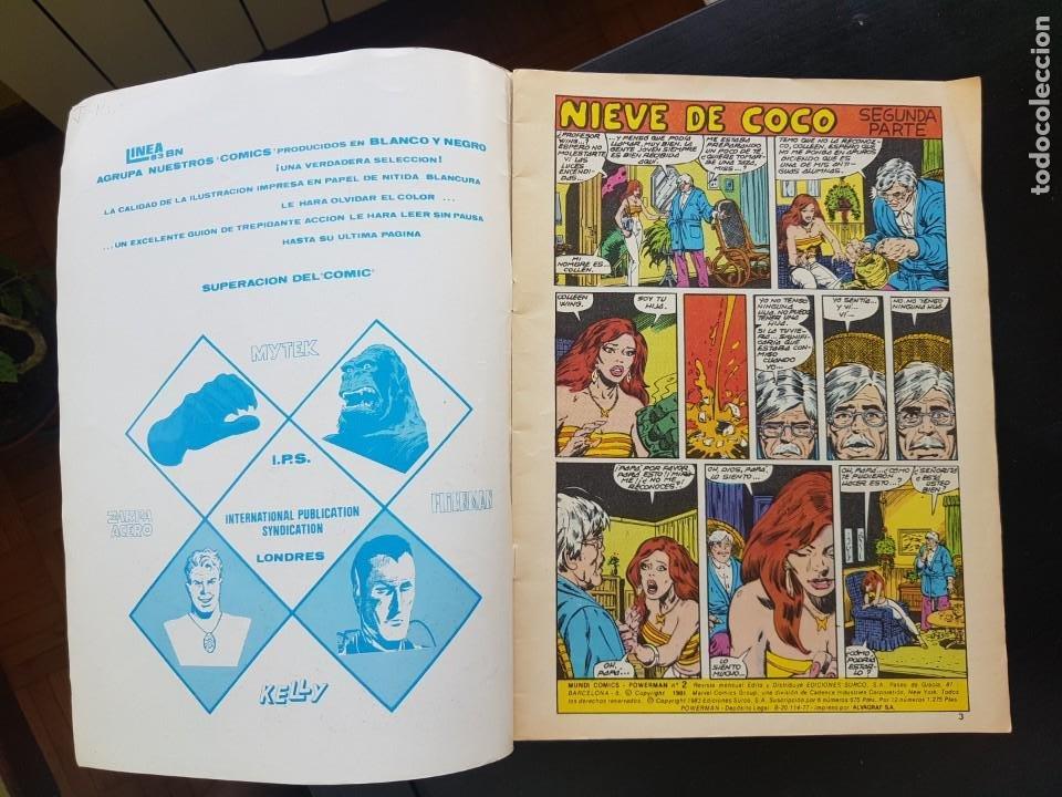 Tebeos: TEBEO / CÓMIC MUY BIEN POWER MAN N⁰ 2 SÚPER HÉROES 1983 LINEA 83 - Foto 2 - 287073988