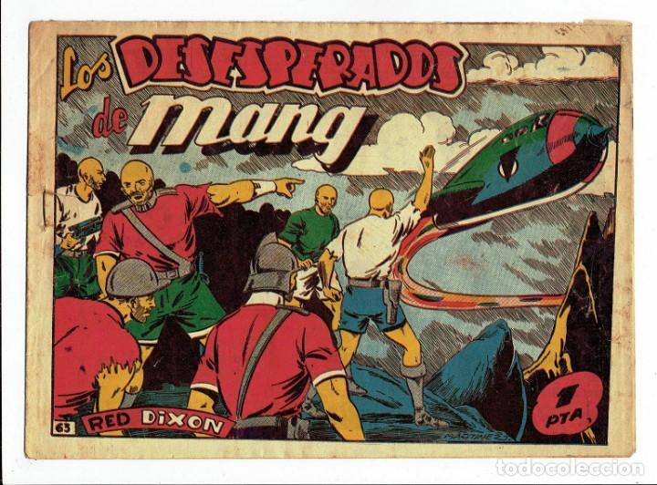 RED DIXON Nº 63 - LOS DESESPERADOS DE MANG - EDITORIAL MARCO 1955 - 1 PTA. (Tebeos y Comics - Marco - Red Dixon)