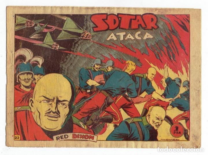 RED DIXON 1ª SERIE - Nº 22 - SOTAR ATACA - EDITORIAL MARCO 1954 - ORIGINAL (Tebeos y Comics - Marco - Red Dixon)