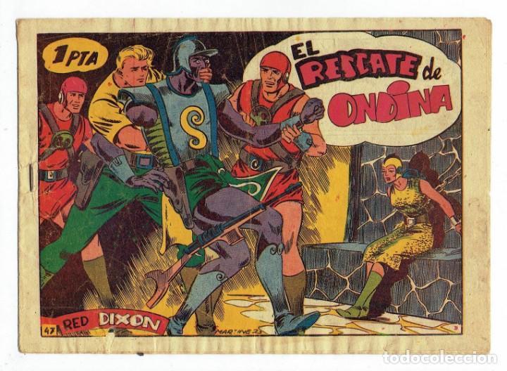 RED DIXON 1ª SERIE - Nº 47 - EL RESCATE DE ONDINA - EDITORIAL MARCO 1954 - ORIGINAL (Tebeos y Comics - Marco - Red Dixon)