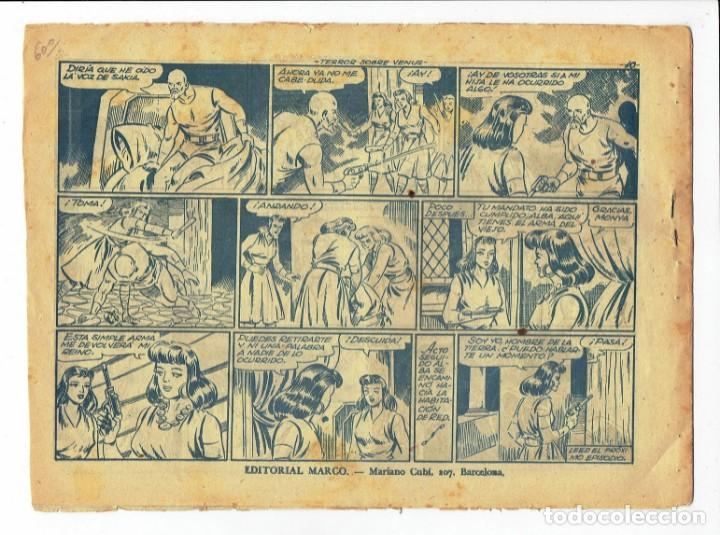 Tebeos: RED DIXON 2ª SERIE - Nº 27 - TERROR SOBRE VENUS - EDITORIAL MARCO 1954 - ORIGINAL - Foto 2 - 287549293