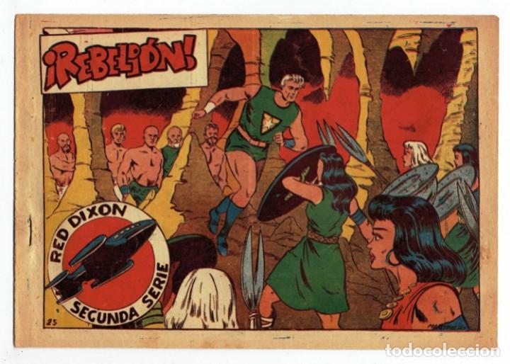 RED DIXON 2ª SERIE - Nº 25 - ¡ REBELIÓN ! - EDITORIAL MARCO 1955 - ORIGINAL (Tebeos y Comics - Marco - Red Dixon)