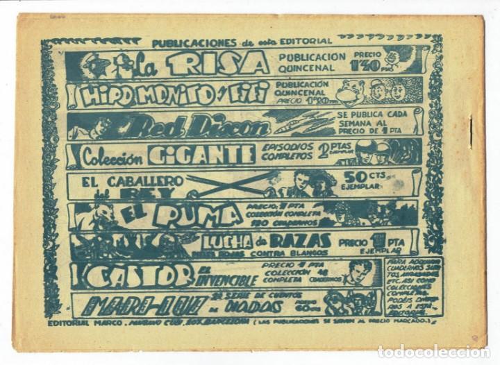 Tebeos: RED DIXON 2ª SERIE - Nº 23 - LUCHA SALVAJE - EDITORIAL MARCO 1955 - ORIGINAL - Foto 2 - 287550613