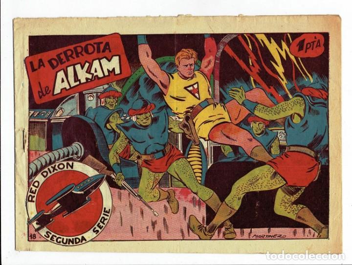 RED DIXON 2ª SERIE - Nº 18 - LA DERROTA DE ALKAM - EDITORIAL MARCO 1955 - ORIGINAL (Tebeos y Comics - Marco - Red Dixon)
