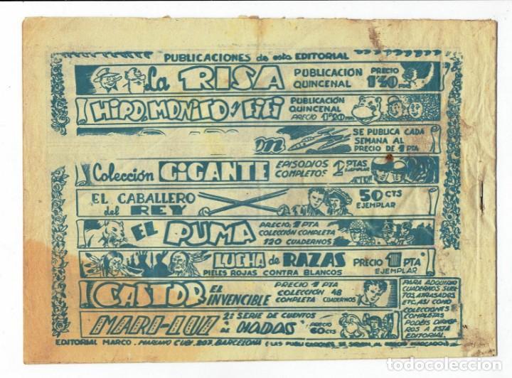 Tebeos: RED DIXON 2ª SERIE - Nº 18 - LA DERROTA DE ALKAM - EDITORIAL MARCO 1955 - ORIGINAL - Foto 2 - 287551003