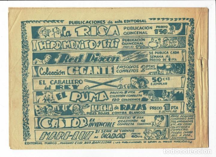 Tebeos: RED DIXON 2ª SERIE - Nº 17 - EL PLANETA ERRANTE - EDITORIAL MARCO 1955 - ORIGINAL - Foto 2 - 287551223