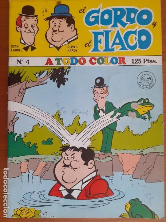 EL GORDO Y EL FLACO Nº 4. A TODO COLOR. MARCO 1980. BUEN ESTADO (Tebeos y Comics - Marco - Otros)