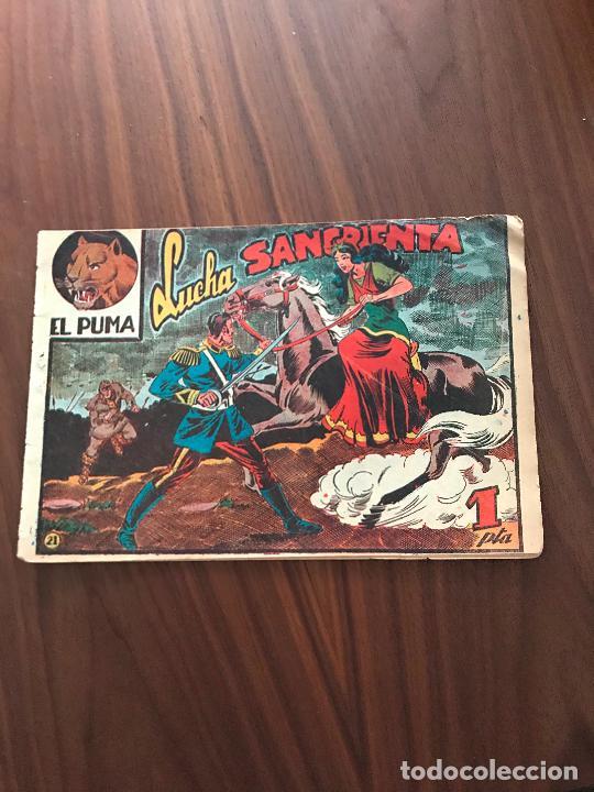 EL PUMA Nº 21 , ORIGINAL , EDITORIAL MARCO (Tebeos y Comics - Marco - Otros)