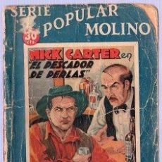 Tebeos: SERIE POPULAR MOLINO. NICK CARTER EN EL PESCADOR DE PERLAS. 1935. 16 X 12 CM. 62 PAGINAS. . Lote 21133077