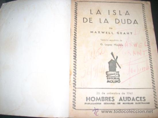 Tebeos: LA SOMBRA, por Maxwell Grant - LA ISLA DE LA DUDA - Nº 145 - Versión G. L. Hipkiss - C/ firma - 1941 - Foto 2 - 27840409