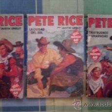 Tebeos: COLECCION HOMBRES AUDACES - PETE RICE - LOTE DE 3 NUMEROS.. Lote 31165456