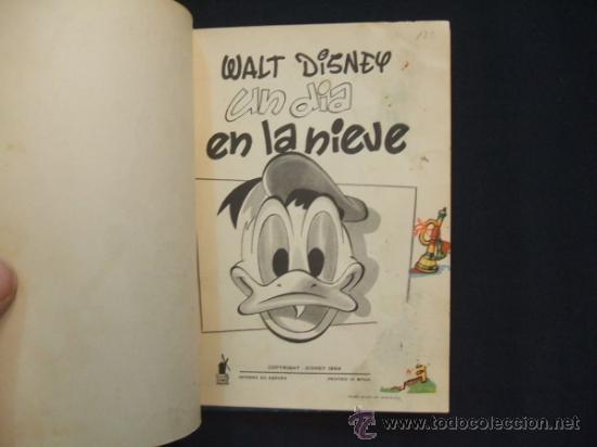 Tebeos: WALT DISNEY - UN DIA EN LA NIEVE - EDIT. MOLINO - 1954 - - Foto 3 - 31455077