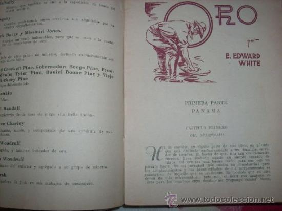 Tebeos: ORO, por S. Edward White Nº 23 BIBLIOTECA ORO/ MOLINO (España) 1947 - Traducido por G. López Hipkiss - Foto 2 - 32694012