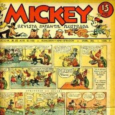 Tebeos: MICKEY , Nº 7C , MOLINO , 4 HOJAS , ORIGINAL, J. Lote 35106730