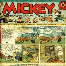 Tebeos: MICKEY , Nº 32B , MOLINO , 4 HOJAS , ORIGINAL, J. Lote 35107267