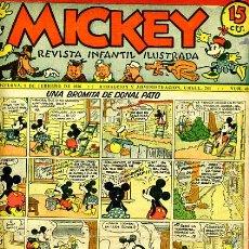 Tebeos: MICKEY , Nº 49 , MOLINO , 4 HOJAS , ORIGINAL, J. Lote 35107392