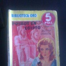 Tebeos: BIBLIOTECA ORO. EDITORIAL MOLINO. ED. AMARILLA. NUM 158. POIROT EN EGIPTO.. Lote 37099765
