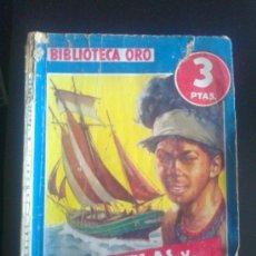 Tebeos: BIBLIOTECA ORO. EDITORIAL MOLINO. ED. AZUL. NUM 188. PERLAS Y SANGRE.. Lote 37099771
