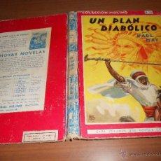 Tebeos: COLECCION MOLINO (VOL.25) KARL MAY UN PLAN DIABOLICO BARCELONA 1944 EDITORIAL MOLINO. Lote 39308474