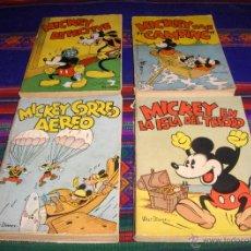 Tebeos: MICKEY 6 NºS WALT DISNEY. MOLINO 1934. HACE CAMPING, CORREO AÉREO, EN LA ISLA DEL TESORO Y DETECTIVE. Lote 39557398