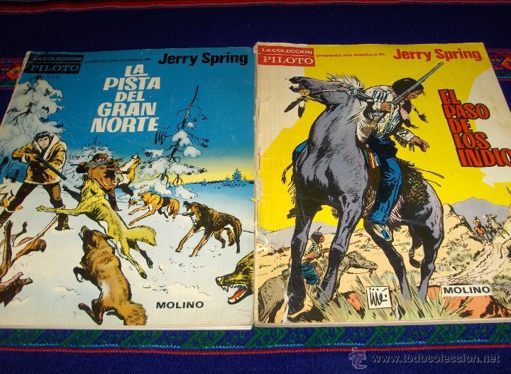 PILOTO JERRY SPRING EL PASO DE LOS INDIOS, LA PISTA DEL GRAN NORTE, EL AMO DE LA SIERRA MOLINO 1965 (Tebeos y Comics - Molino)