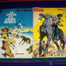 Tebeos: PILOTO JERRY SPRING EL PASO DE LOS INDIOS, LA PISTA DEL GRAN NORTE, EL AMO DE LA SIERRA MOLINO 1965. Lote 42278768