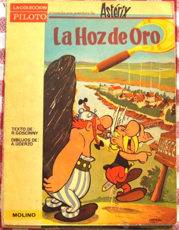 ASTERIX LA HOZ DE ORO EDITORIAL MOLINO AÑO 1966 RARO RARISIMO (Tebeos y Comics - Molino)