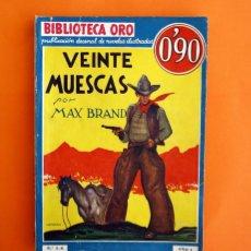 Tebeos: BIBLIOTECA ORO - Nº 1 - 6 - AÑO I - VEINTE MUESCAS - EDITORIAL MOLINO 1934 -. Lote 45957458