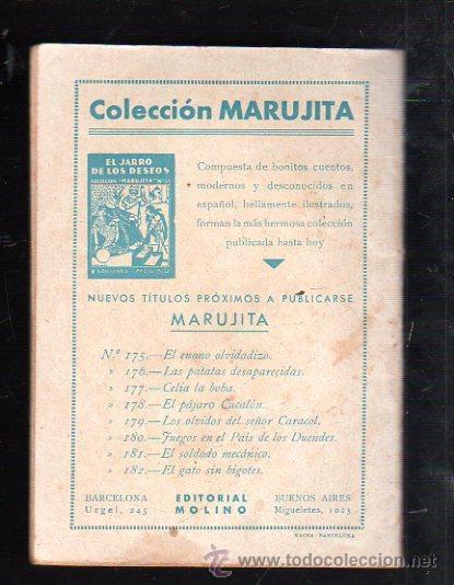 Tebeos: COLECCION MARUJITA Nº 179. LOS OLVIDOS DEL SEÑOR CARACOL. EDITORIAL MOLINO - Foto 2 - 47529613