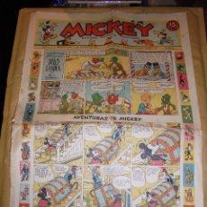 Tebeos: (M1) MICKEY 1935 NUM 24 , EDT MOLINO 1935 , ESTADO CON ROTURITAS. Lote 47610990