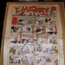 Tebeos: (M1) MICKEY 1935 NUM 52 , EDT MOLINO 1935 , ESTADO CON ROTURITAS. Lote 47611108