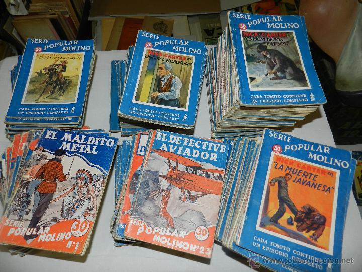 (M) SERIE POPULAR MOLINO 1933 , LOTE DEL NUMERO 1 AL 132 (FALTAN 4 NUMEROS) 1 EDC. (Tebeos y Comics - Molino)