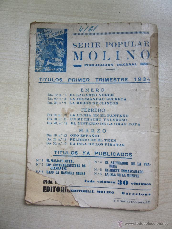 Tebeos: El misterio de la Gran Copa Serie Popular Molino nº 12 Febrero 1934 - Foto 3 - 51506158