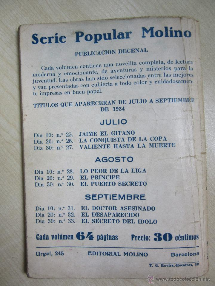 Tebeos: Jaime El Gitano Serie Popular Molino nº 25 10 de Julio de 1934 - Foto 3 - 58430615