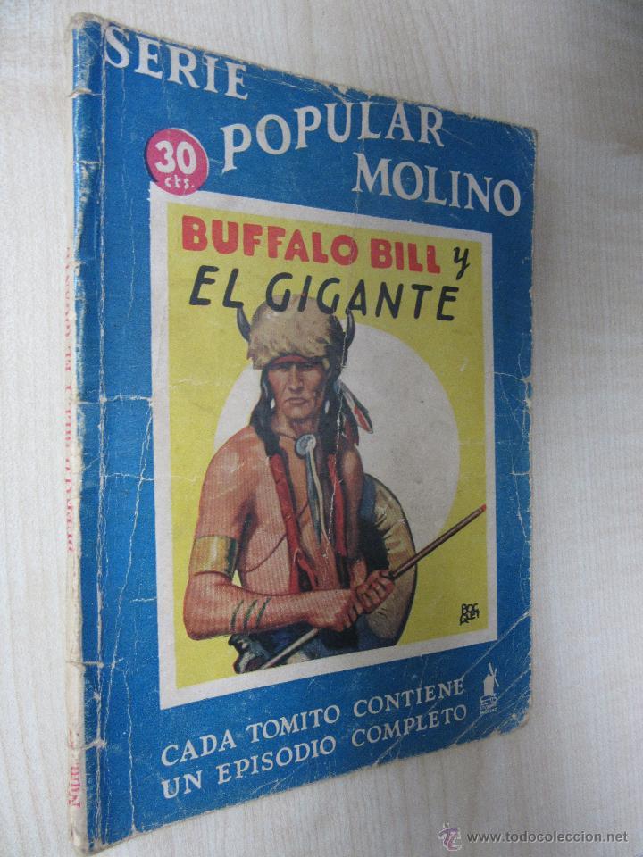 Tebeos: Bufalo Bill y el Gigante Serie Popular Molino 25 de mayo 1935 - Foto 2 - 51520058