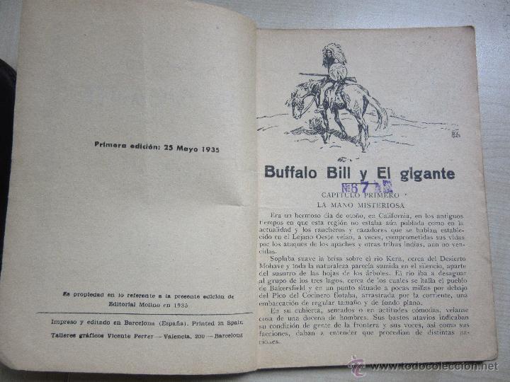 Tebeos: Bufalo Bill y el Gigante Serie Popular Molino 25 de mayo 1935 - Foto 4 - 51520058