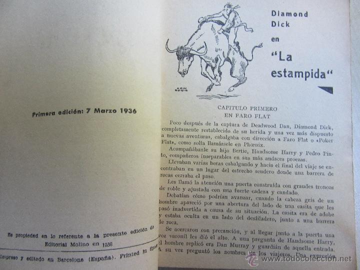 Tebeos: Diamond Dick en La Estampida Serie Popular Molino 7 de marzo de 1936 - Foto 2 - 52013912