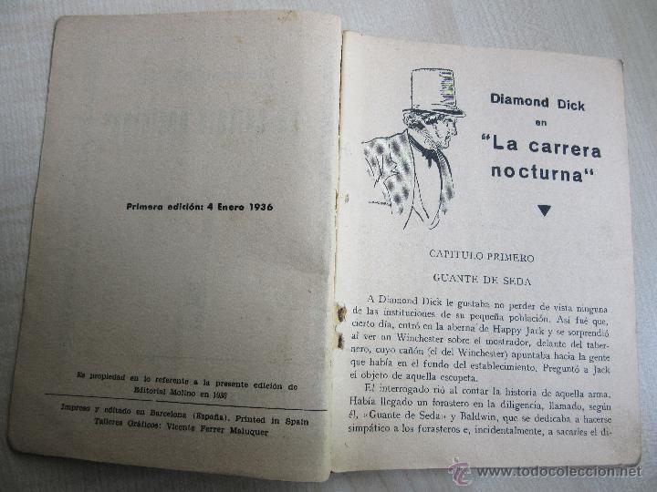 Tebeos: Diamond Dick en La carrera nocturna Serie Popular Molino 4 de enero 1936 - Foto 4 - 52284922