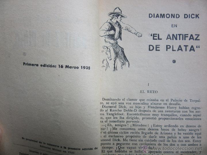 Tebeos: Diamond Dick en El antifaz de plata Serie Popular Molino 16 de marzo de 1935 - Foto 4 - 52285047