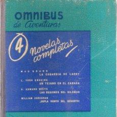 Tebeos: OMNIBUS DE AVENTURAS, Nº 4, NOVELAS COMPLETAS, EDITORIAL MOLINO, 1951. Lote 53334028