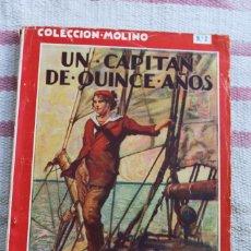Tebeos: COLECCION MOLINO Nº 1: UN CAPITAN DE QUINCE AÑOS, JULIO VERNE. Lote 57719000