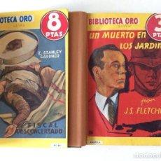 Tebeos: BIBLIOTECA ORO ,DOS TOMOS ENCUADERNADOS CON 6 NÚMEROS ,PORTADAS ORIGINALES CON TRES NÚMEROS CADA UN. Lote 66028530