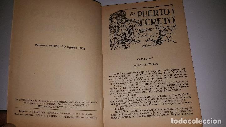 Tebeos: SERIE POPULAR MOLINO - EL PUERTO SECRETO -Nº 30 -1º ED.1934 - Foto 2 - 71630167