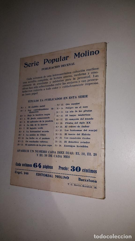 Tebeos: SERIE POPULAR MOLINO - EL PUERTO SECRETO -Nº 30 -1º ED.1934 - Foto 3 - 71630167