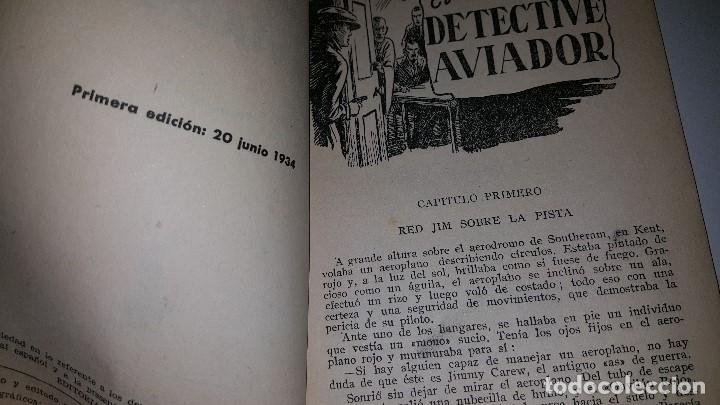 Tebeos: SERIE POPULAR MOLINO - EL DETECTIVE AVIADOR -Nº 23 -1º ED.1934 - Foto 2 - 71630259